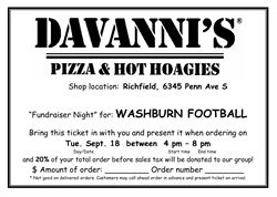 Davanni's Football Fundraiser