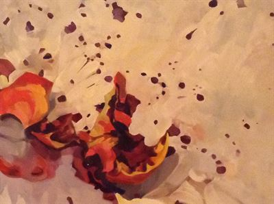 Exploding Pomegranate Painting