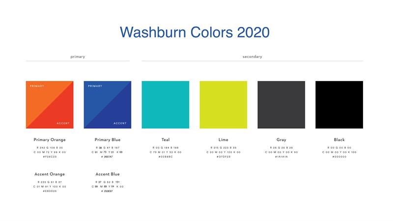 Washburn Colors 2020